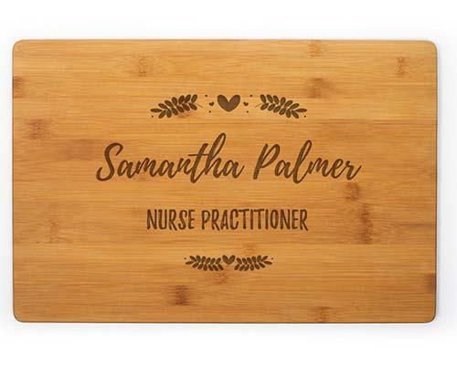 Nurse Appreciation Cutting Board