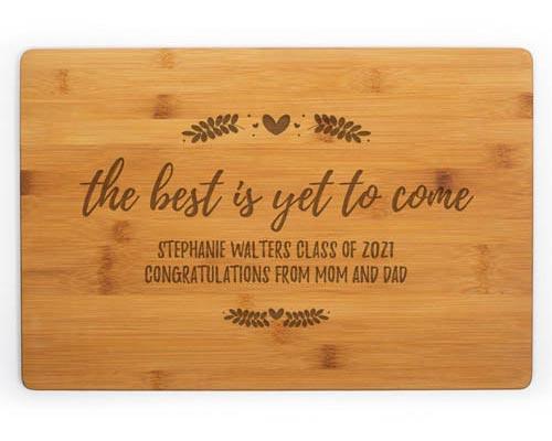 Personalized Cutting Board Nursing School Graduation Gift