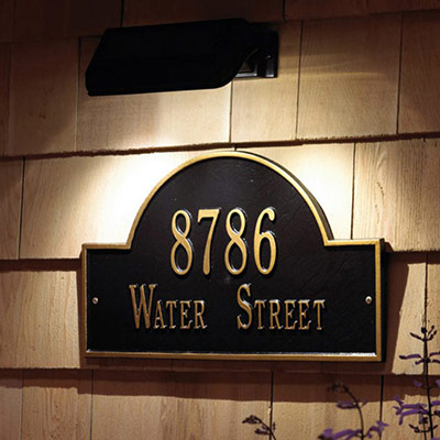 OPTIONAL Solar Light for Address Sign