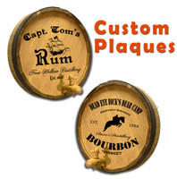 Custom Quarter Barrel Plaque