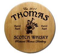 Scotch Whiskey Barrel Head Sign Personalized