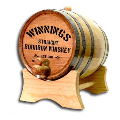 Distillery II Whiskey Label Personalized Oak Barrel