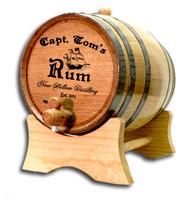 Pirate Ship Oak Barrel Personalized