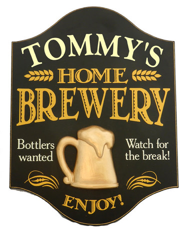Personalized Home Brewery Sign