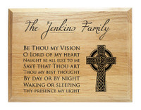 Be Thou My Vision Family Name Plaque