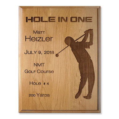 Hole in One Engraved Plaque