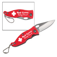Red Aluminum Pocket Knife Personalized