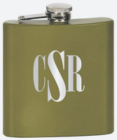 Green Matte Stainless Steel Flask