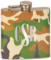 Custom Engraved Stainless Steel Camo Flask