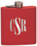 Monogram Initials Engraved Flask