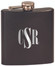 Custom Engraved Stainless Steel Flask in Matte Black