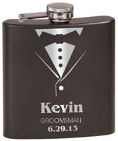 Personalized Tuxedo Flask - Groomsman