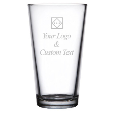 Personalized Pint Glass (Logo & Text)