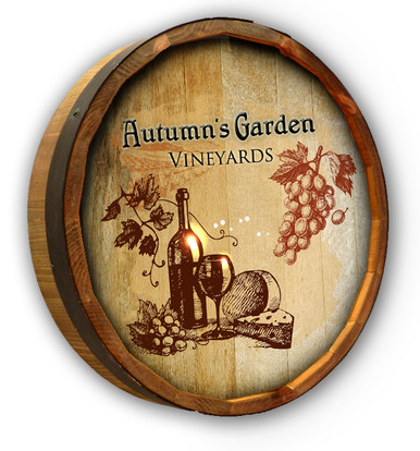 Custom Vineyards Color Quarter Barrel