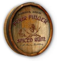 Pirate Rum Custom Color Quarter Barrel