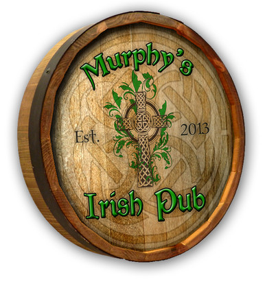 Custom Irish Pub Barrel Sign