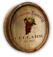 Custom Grapes Color Quarter Barrel Sign