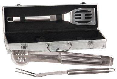 Personalized Stainless Steel BBQ Gift Set