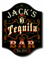 Personalized Tequila Bar Sign