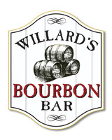 Personalized Bourbon Barrel Home Bar Sign