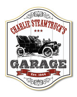 Classic Car Garage Sign Personalized