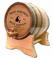 Bourbon Whiskey Still Oak Barrel