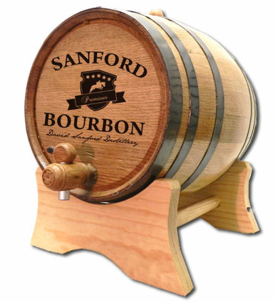 Kentucky Crest Bourbon Oak Barrel