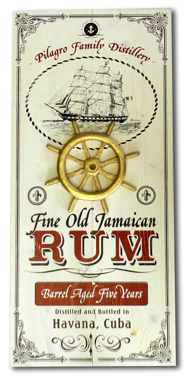 Jamaican Rum Pub Plaque