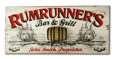 Bar & Grill Plaque - Personalized