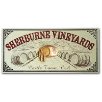 Personalized Vintage Wine Barrel Sign