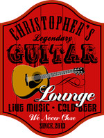 Guitar Lounge Musician's Pub Sign