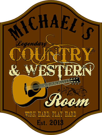 Country Music Bar Plaque
