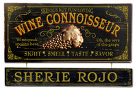 Wine Connoisseur Plaque with Optional Hanging Name Plank