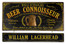 Beer Connoisseur Plaque with Optional Hanging Nameboard