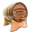 Oak barrel with barrel head engraved