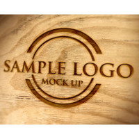 Engraved logo sample on barrel head