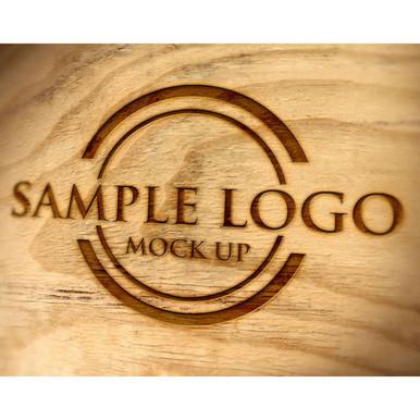 Engraved logo sample on barrel head