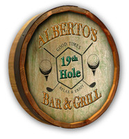 19th Hole Golfer Quarter Barrel Head Sign