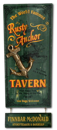 Rusty Anchor Tavern Vintage Pub Sign
