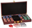 Deluxe 300 Chip Poker Set with Wooden Gift Box