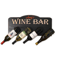Vintage Wine Bar Personalized Wine Bottle Holder Plaque