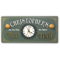 Vintage Tee Time Golf Clock Sign