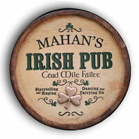 Irish Pub Quarter Barrel Sign