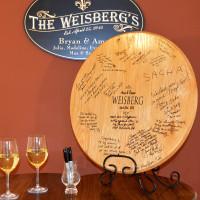 Wedding Signature Barrel Head Guest Book
