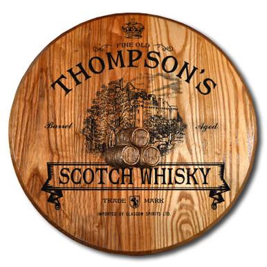 Scotch Whisky Barrel Head Plaque