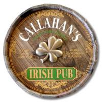 Irish Pub with Shamrock Quarter Barrel Sign