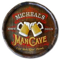 Vintage Man Cave Plaque Personalized