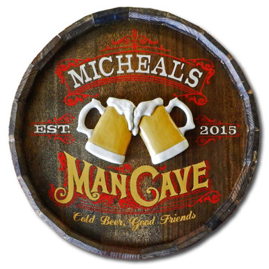 Vintage Man Cave Plaque Personalized