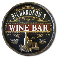 Personalized Vintage Wine Bar Sign