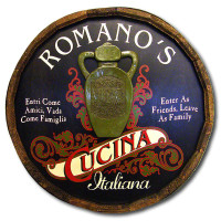 Italian Cucina Vintage Quarter Barrel Sign